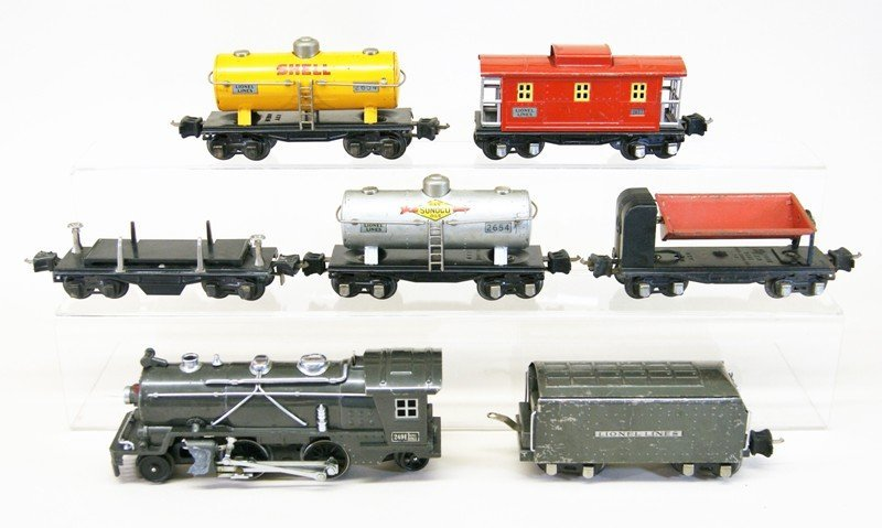 Lionel Pre-war 249e Freight Set Seven Pieces
