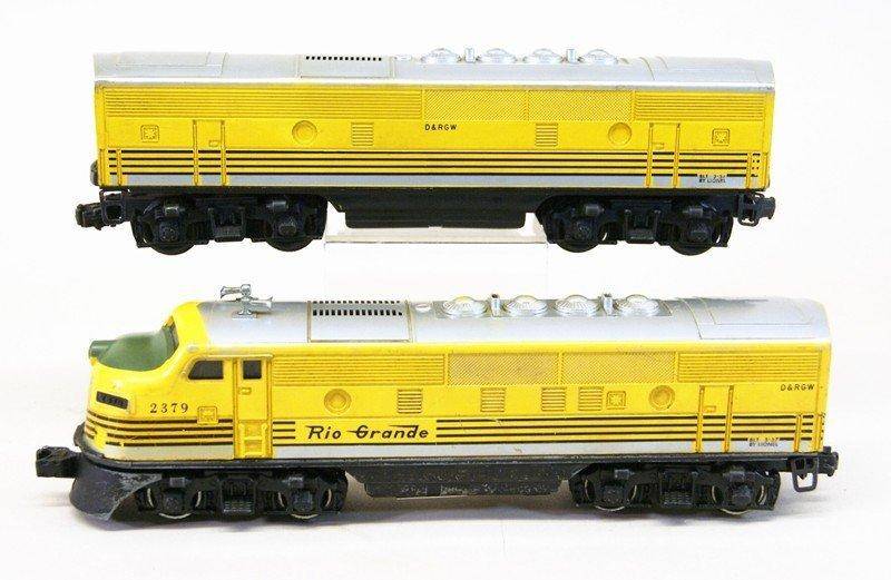 Lionel 2379 Rio Grande A-B Units