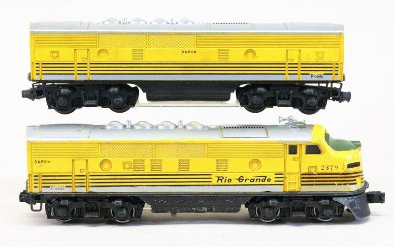 Lionel 2379 Rio Grande A-B Units - 2