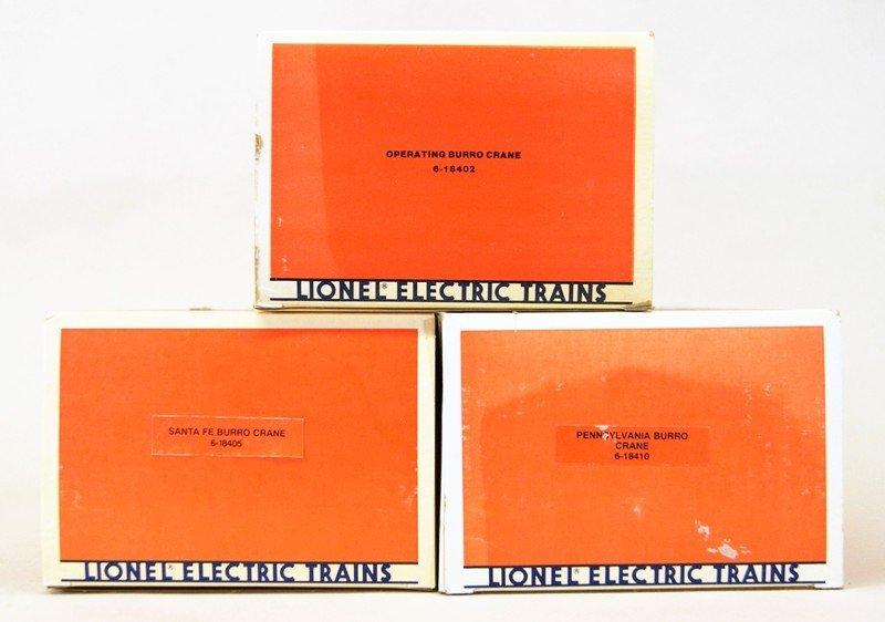 Three Lionel Modern Burro Cranes - 5