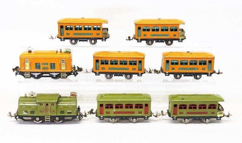 Two Lionel Pre-war Tin Plate Passenger Sets