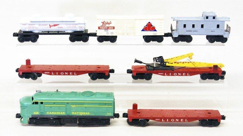 Lionel Post-war 228 Freight Set Seven Pieces