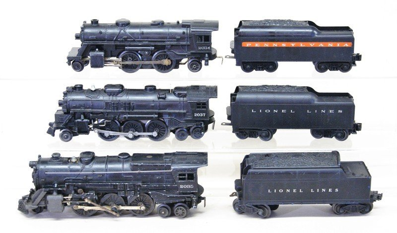 Lot of Three Lionel Steam Locomotives with Tenders