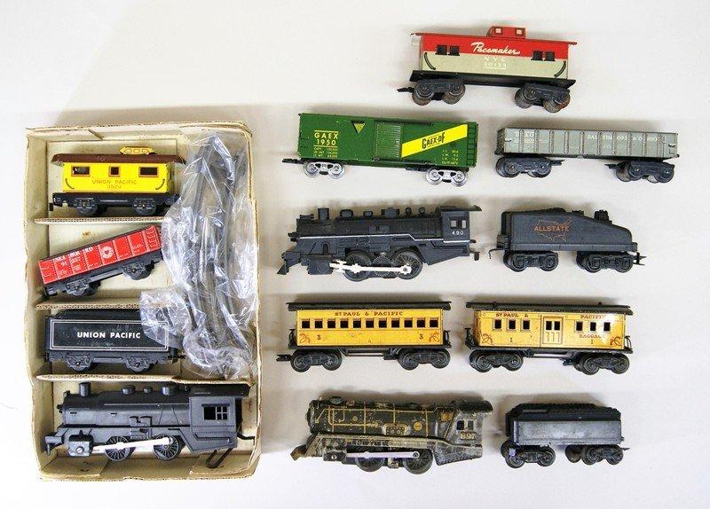 Three Vintage Marx Train Sets. All Steam Locomotives