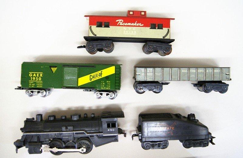 Three Vintage Marx Train Sets. All Steam Locomotives - 3