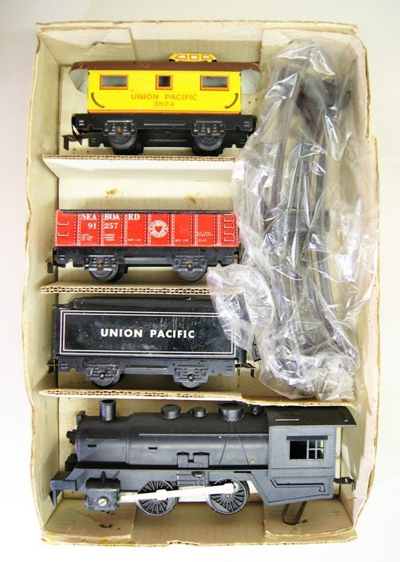 Three Vintage Marx Train Sets. All Steam Locomotives - 4