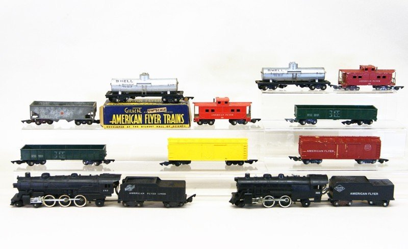 Pair of American Flyer S Gauge Freight Sets