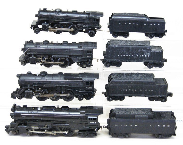 Lionel Lot of Four Lionel Steam Engines