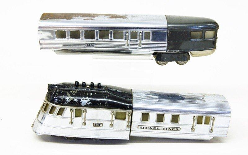 Lionel Pre-war 616 Flying Yankee Passenger Set - 2