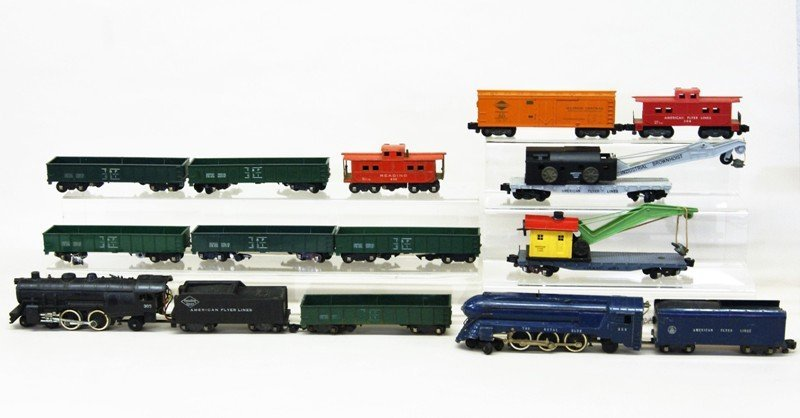 Two American Flyer S Gauge Freight Trains
