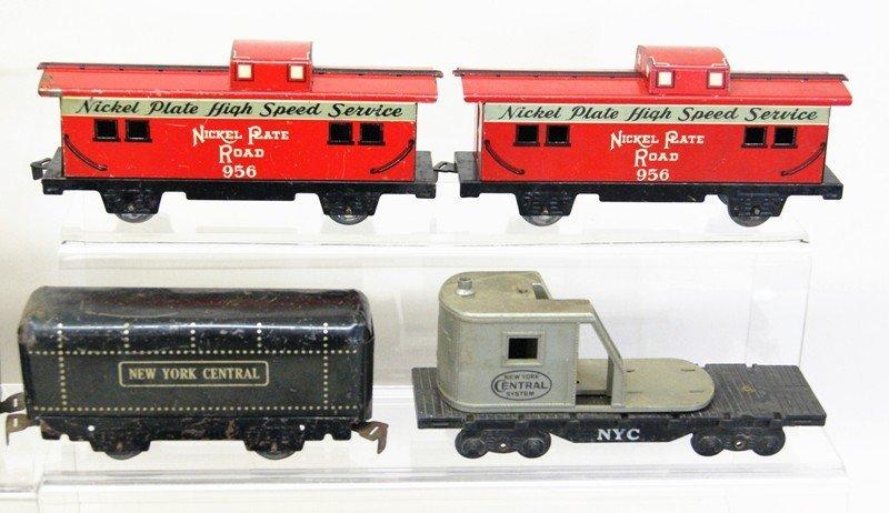 Large Lot of Marx O Gauge Steam Locomotives, Cabooses, - 4