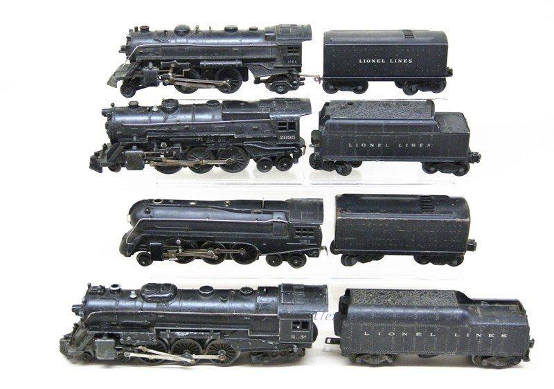 Lionel Lot of Four Steam Locomotives