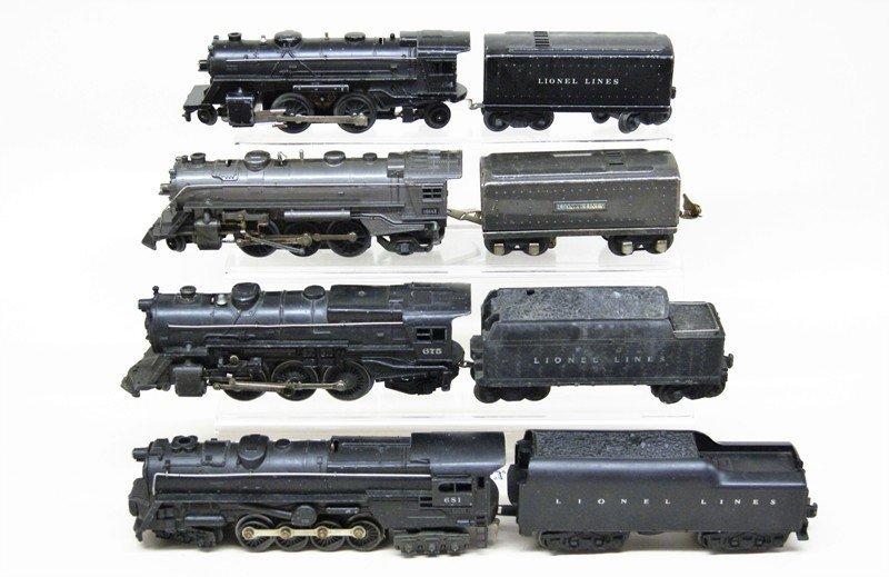 Lionel Steam Locomotive Lot of Four