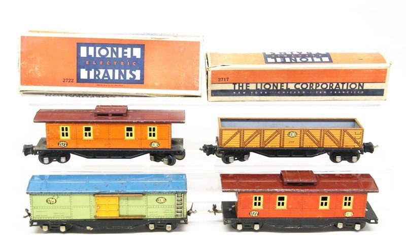 Lionel Pre-war Freight Car Lot of Four