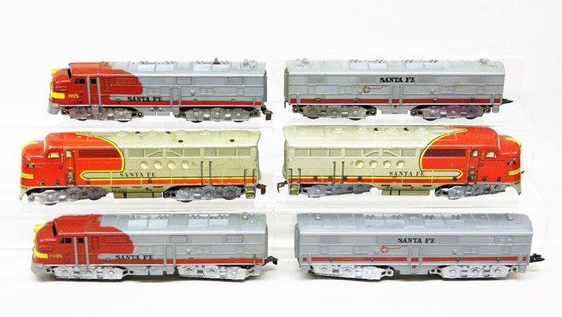 Lot of Three Marx Santa Fe Diesel Engines