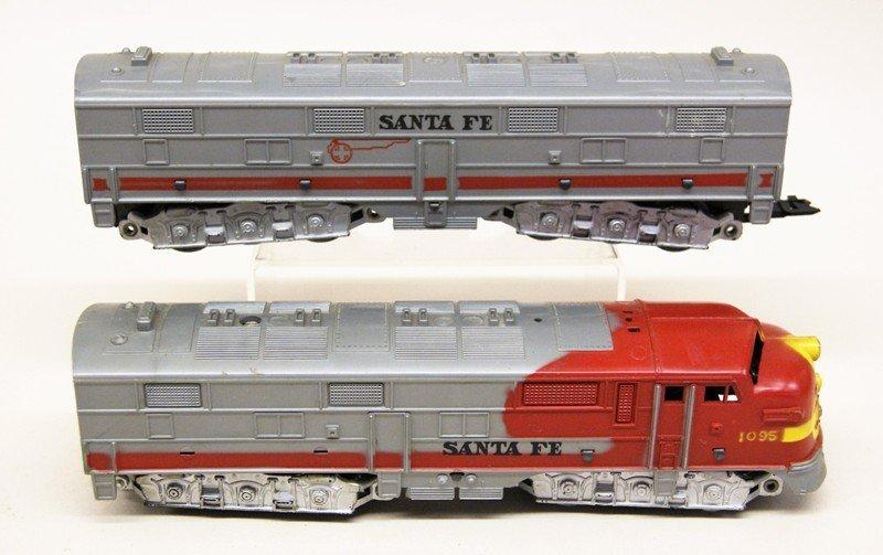 Lot of Three Marx Santa Fe Diesel Engines - 2