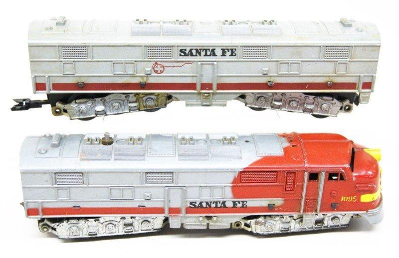 Lot of Three Marx Santa Fe Diesel Engines - 4