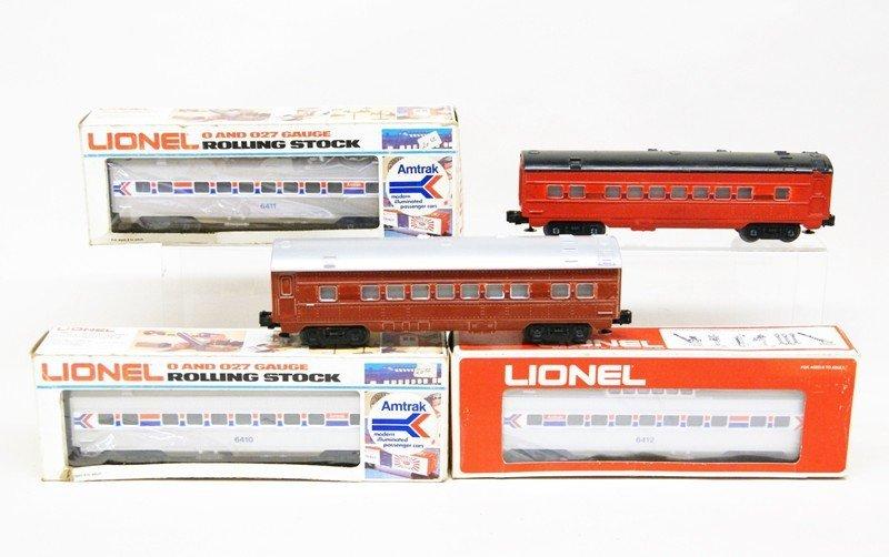 Lionel Modern Era Amtrak Passenger Car Lot of Five Cars