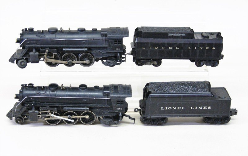 Two Lionel 1666 Engines