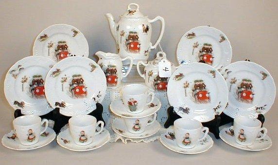 4: German Tea Set -Children in Cars.