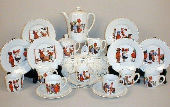 7: German Tea Set-Children at Play.