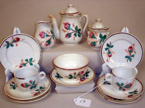 17: American Moss Rose Tea Set.