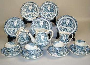 22: Staffordshire Punch and Judy Tea set