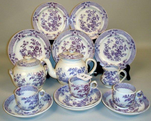24: Foley Purple Tea Set.