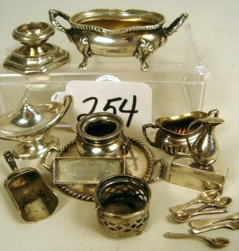 254: Grouping of Continental Sterling: Tray, Scoop