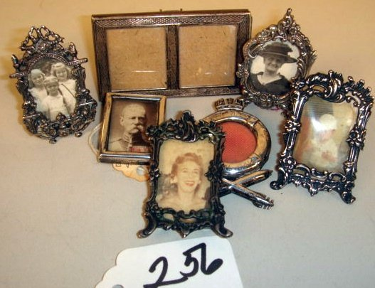 256: Grouping:  Seven Sterling Decorative Picture Frame