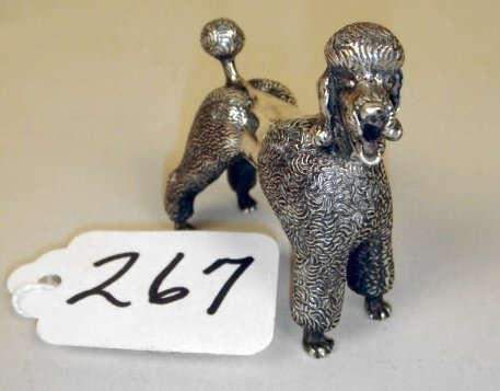 "267: Kirk Standing Poodle  2"" x 2"",  4oz."