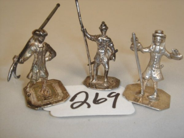 269: Grouping:  Three 18th Century Sterling  Dutch Toys