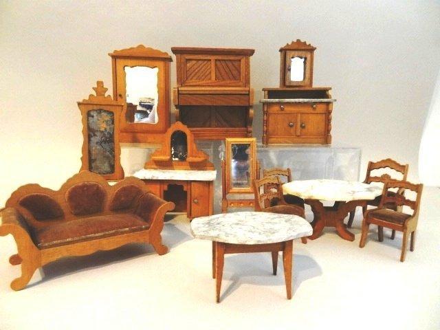Schneegas Dollhouse Furniture Grouping
