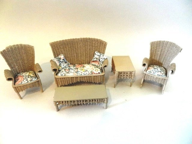 Artist Dollhouse Furniture P. Taylor Wicker