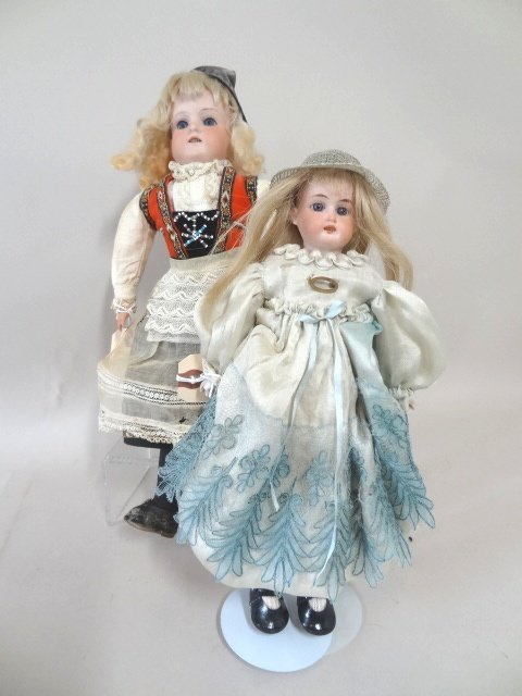 Lot of Two Bisque Head Dolls