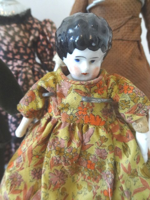 Grouping of Four China Head Dolls - 2