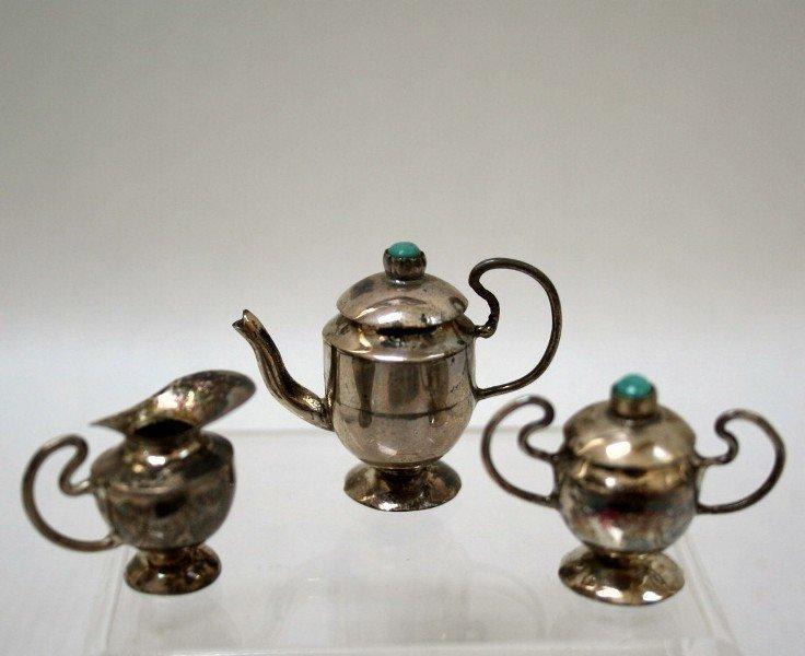 Vintage Silver Tea Set - 3