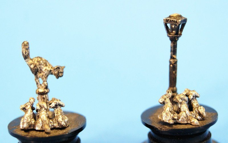 Six Small Silver Miniatures - 5