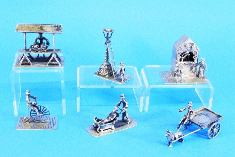 Six Dutch Silver Miniatures