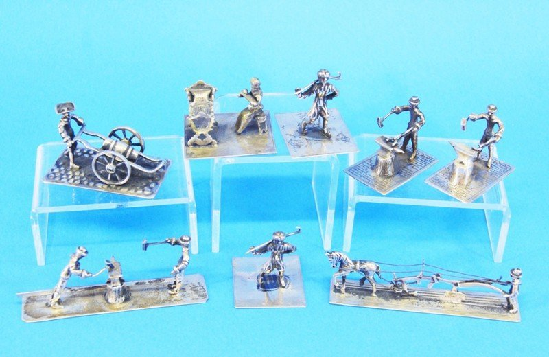 Seven Silver Dutch Miniatures
