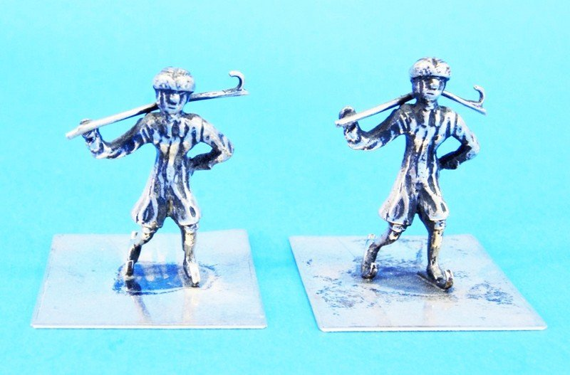 Seven Silver Dutch Miniatures - 7