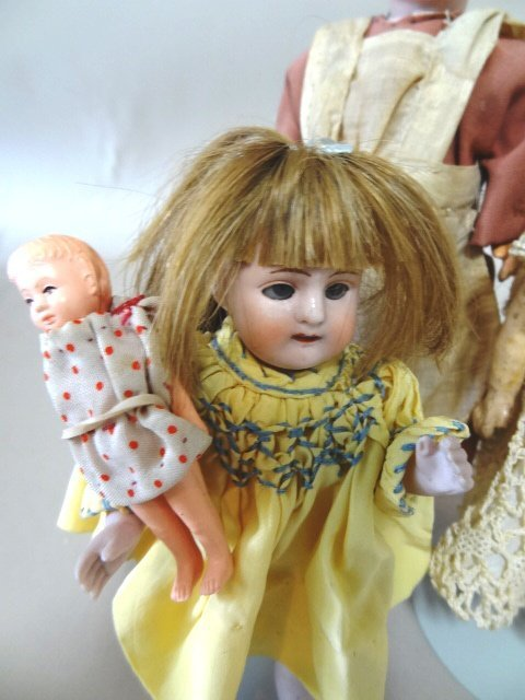 Three Small Bisque Dolls - 2