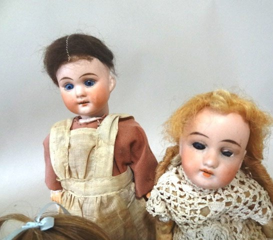 Three Small Bisque Dolls - 3