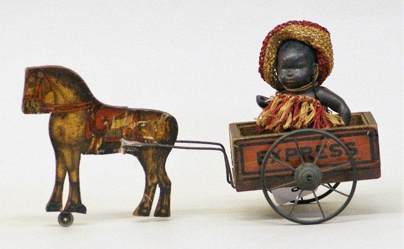 Oriental Baby Doll, Gibbs Horse Cart - 2