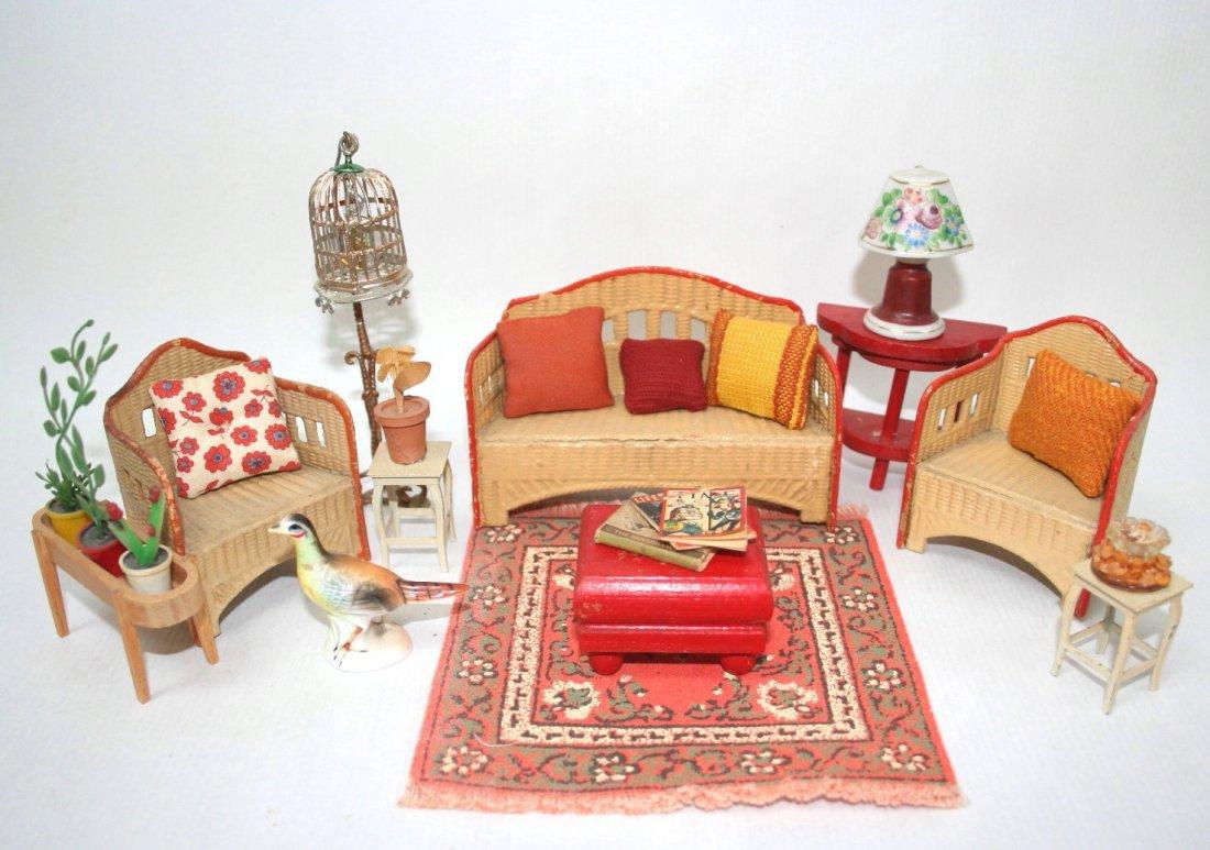 Vintage Cardboard Wicker Furniture