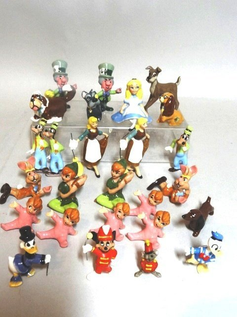 Miniature Disney Production Porcelain Figures
