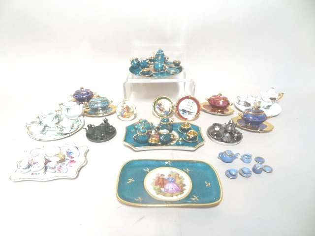 Dollhouse Miniature Limoges  and Japanese Tea Sets