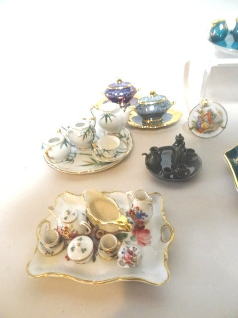 Dollhouse Miniature Limoges  and Japanese Tea Sets - 3