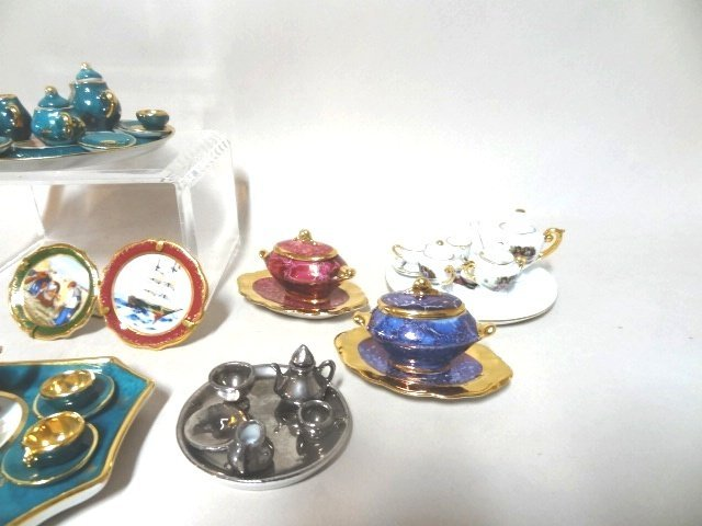 Dollhouse Miniature Limoges  and Japanese Tea Sets - 4