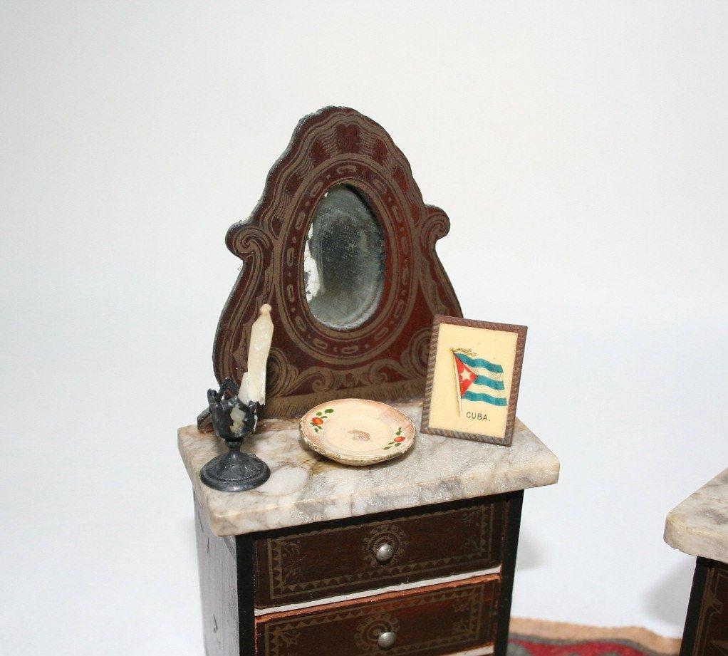 Small Boulle Dollhouse Miniature Furniture - 2